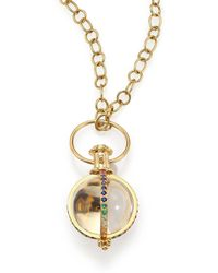 Temple St. Clair - Celestial Rock Crystal, Multicolor Sapphire, Diamond & 18k Yellow Gold Classic Amulet - Lyst