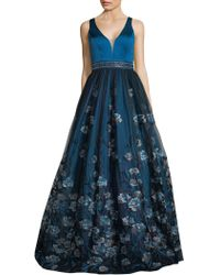 Basix Black Label - Sweetheart Floral-embroidered Gown - Lyst