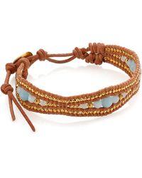 Chan Luu - Amazonite & Leather Bracelet - Lyst
