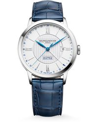 Baume & Mercier - Classima 10272 Dual Time Stainless Steel & Alligator Strap Watch - Lyst