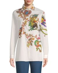 Etro - Paisley Lemur Button-down Shirt - Lyst