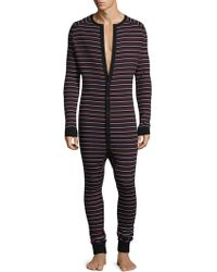 2xist - Stripe Cotton Union Suit - Lyst