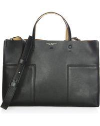 Tory Burch - Block-t Leather Satchel - Lyst