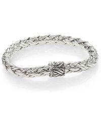 John Hardy - Sterling Silver Woven Bracelet - Lyst