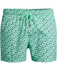 f2f5e50bee Vilebrequin - Men's Micro Turtle Print Swim Trunks - Mint - Lyst