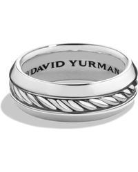 David Yurman - Cable Collection Sterling Silver Ring - Lyst