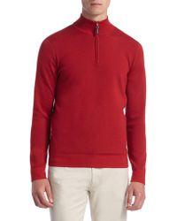 Saks Fifth Avenue - Collection Tech Merino Wool Quarter-zip Sweater - Lyst