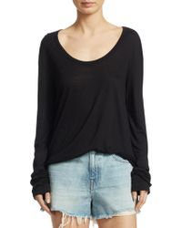 T By Alexander Wang - Draped Jersey Top - Lyst
