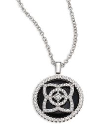 De Beers | Enchanted Lotus Reversible Diamond & Black Tourmaline Pendant Necklace | Lyst