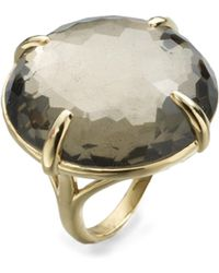Ippolita - 18k Yellow Gold Pyrite Doublet Cocktail Ring - Lyst