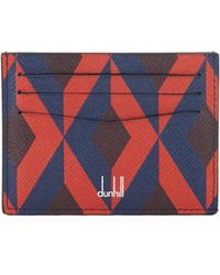 Dunhill - Cadogan Engine Turn Leather Simple Card Case - Lyst
