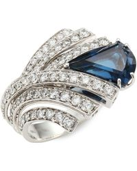 Hueb - Mirage Diamond & London Blue Topaz Ring - Lyst
