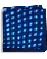 Ike Behar - Geometric Silk Pocket Square - Lyst