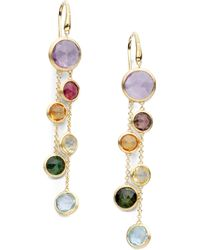 Marco Bicego - Jaipur 18k Yellow Gold And Multi-stone Double Drop Earrings - Lyst