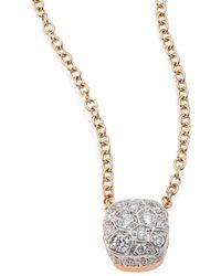Pomellato - Nudo Brown Diamond & 18k Rose Gold Pendant Necklace - Lyst