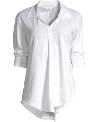 Wilt - Women's Cotton Long Sleeve Polo Shirt - White - Size Small - Lyst
