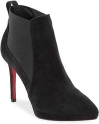 Christian Louboutin - Crochinetta Suede Chelsea Booties - Lyst