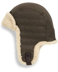 bfdbe3ef1f6 UGG - Woven Shearling Trapper Hat - Lyst