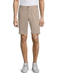 Theory - Garment-washed Zaine Shorts - Lyst