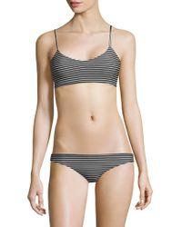 Mikoh Swimwear - Capri Stripe Basic Scoop Bikini Top - Lyst