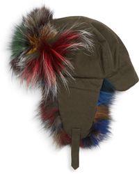 4bdf4e47992 Lyst - Marc Jacobs Fox Fur Trapper Hat Grey in Gray