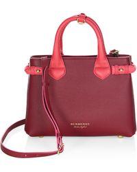 Burberry - Derby Leather Shoulder Bag - Lyst