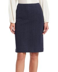 Nanette Lepore - Sneaky Knit Pencil Skirt - Lyst