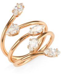 Anita Ko - 18k Rose Gold & Diamond Vine Ring - Lyst