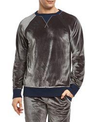 2xist - Velour Crewneck Sweatshirt - Lyst