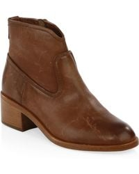 Frye - Claire Leather Bootie - Lyst
