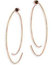 Diane Kordas - Armour 18k Rose Gold Curved Open Hoop Earrings/2.5 - Lyst