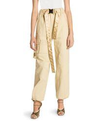 Fendi - Beige Cotton Trousers - Lyst