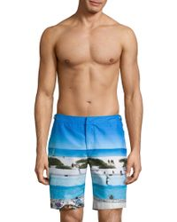 Orlebar Brown - Dane Ii Pine Va-cay Longest-length Swim Trunks - Lyst