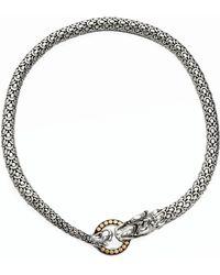 John Hardy - Naga 18k Yellow Gold & Sterling Silver Dragon Necklace - Lyst