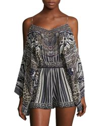 Camilla - From Rio With Love Embellished Silk Romper - Lyst