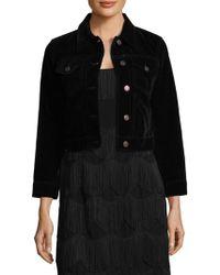 Marc Jacobs - Shrunken Velvet Jacket - Lyst