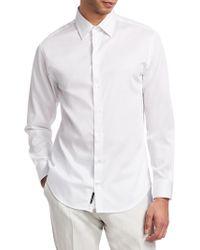 Emporio Armani - Solid Stretch Shirt - Lyst