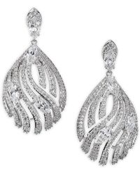 Adriana Orsini - Lush Pave Drop Earrings - Lyst