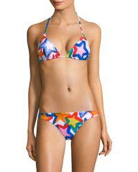 MILLY - Star-print Bikini Top - Lyst