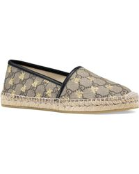 Gucci - GG Supreme Bees Espadrilles - Lyst