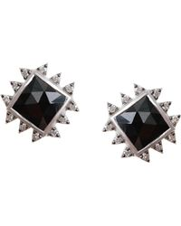 Coomi - Vitality Diamond, Black Spinel & Sterling Silver Stud Earrings - Lyst