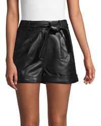 Rise Maje High Iona Crepe Red In Lyst Shorts 4PPxwErFq