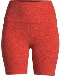 4d25cb44d1 Beyond Yoga - Women's Space Dye High-waist Bike Shorts - Darkest Night -  Lyst