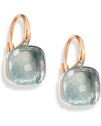 Pomellato   Nudo Blue Topaz & 18k Rose Gold Leverback Earrings   Lyst
