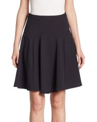 Armani Jeans - Wool Fluted Skirt - Lyst