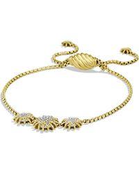 David Yurman - Starburst Three-station Bracelet With Diamonds In Gold - Lyst