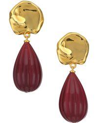 Lizzie Fortunato - Gourd 18k Goldplated & Bead Drop Earrings - Lyst