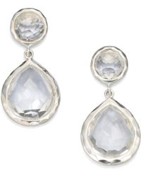 Ippolita - Clear Quartz Snowman Drop Earrings - Lyst