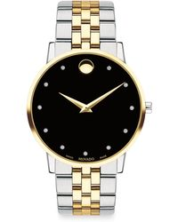 Movado - Museum Classic Stainless Steel Bracelet Watch - Lyst