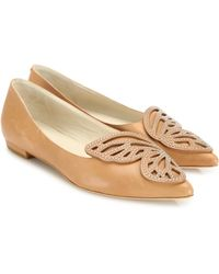 Sophia Webster - Leather Bibi Stud Butterfly Flats - Lyst